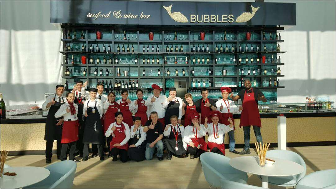 Bubbles And Amo Land At Munich Airport Autogrill