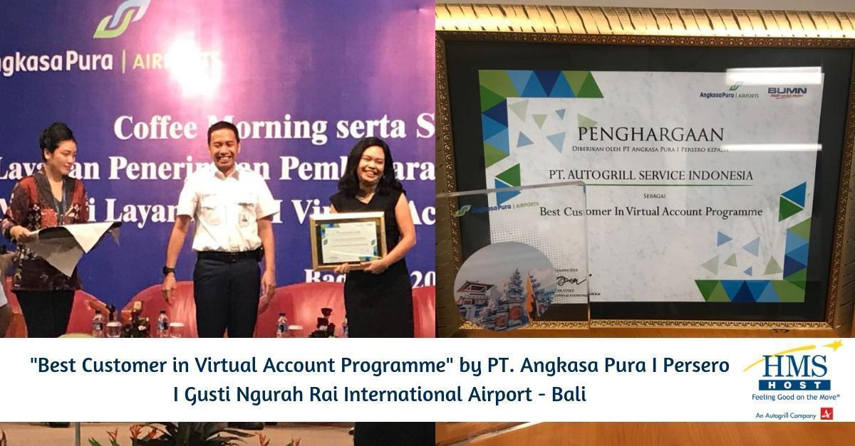 "Autogrill Indonesia has been awarded ""Best Customer in Virtual Account Programme"""